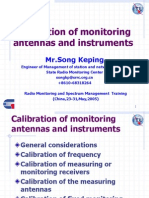 Calibration of Monitoring Antennas and Instruments