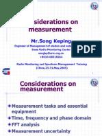Considerations on Measurement