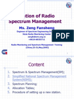 Foundation of Radio Spectrum Management