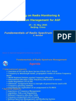 Fundamentals of Radio Spectrum Management