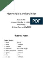 Hipertensi Dalam Kehamilan Ppt