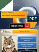 Breaking SAP Portal Dmitry Chastukhin