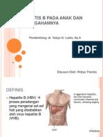 Hepatitis b Pada Anak Dan Pencegahannya