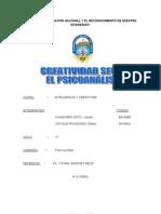 Monografia de Creatividad en El Psicoanalisis