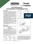 Fan Performance Characteristics of Centrifugal Fans Fe 2400