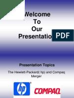 HP & Compaq Merger Presentation..