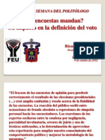 impacto de las encuestas en la definición del voto