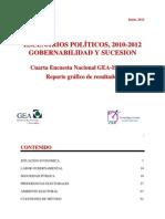 Cuarta Encuesta Nacional GEA-IsA 2012 (Junio)