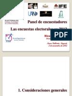 Las Encuestas Electorales en 2012
