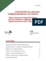 Primera Encuesta Nacional GEA-IsA 2012 (Enero)