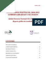 Quinta Encuesta Nacional GEA-IsA 2012 (Septiembre)