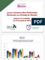 Quinta encuesta para la elección de Gobernador en Morelos (junio 24 de 2013)