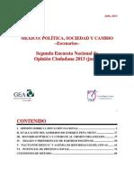 Segunda Encuesta Nacional GEA-IsA 2013 (Junio)