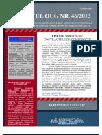Impactul OUG 46 din 2013 ssupra Contractelor de Constructii