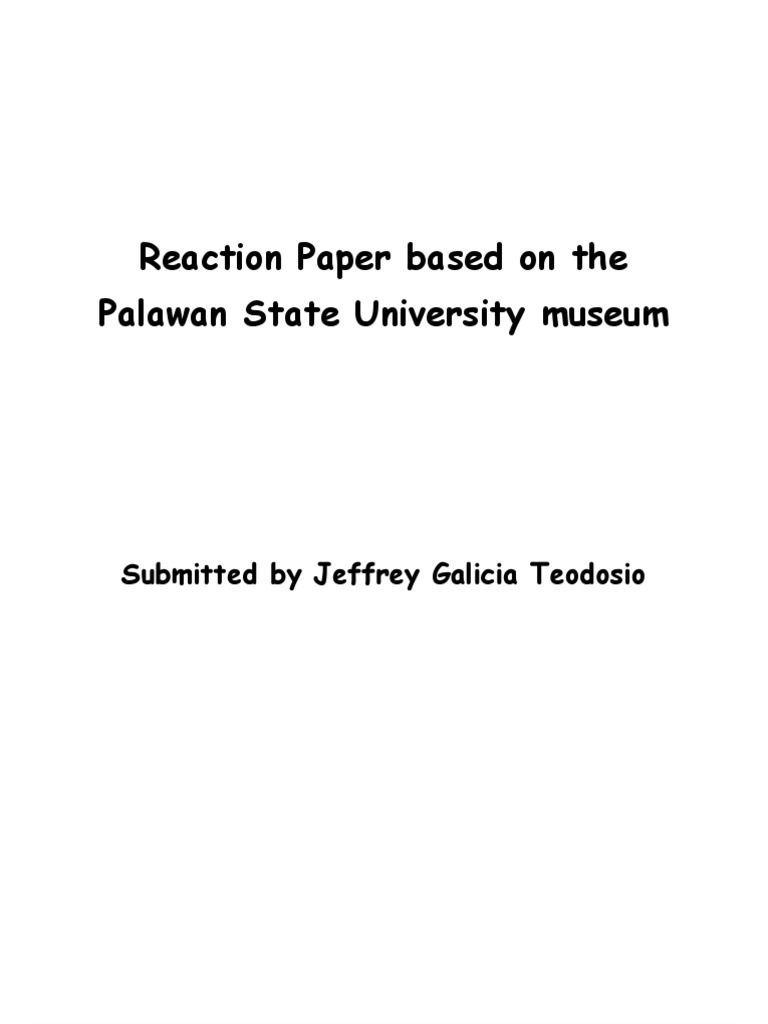 reaction paper sample tagalog