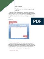 Bắt đầu với Microsoft Word 2007
