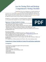 Sample Test Cases for Testing Web and Desktop Applications