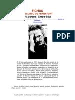 Derrida - FICHUS, Discurso de Frankfurt