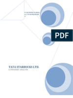 tata starbucks ltd - a strategic analysis