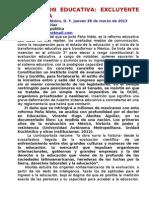 EVALUACIÓN EDUCATIVA EXCLUYENTE Y CLASISTA