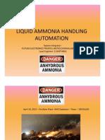 LIQUID AMMONIA HANDLING AUTOMATION- SIS PLC