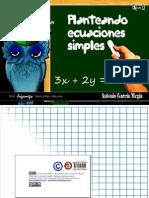 Planteando ecuaciones simples. Imágenes para presentar