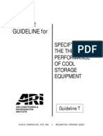 ARI Guideline T - Specifying the Thermal Performance of Cool Storage Eqpt