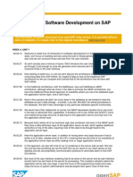 OpenSAP HANA 1 Week 4 Transcripts