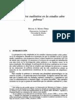 Estudios Cualitativos y Pobreza