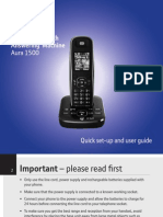 BT Aura 1500 Phone User Guide