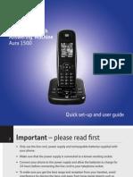 BT Aura 1500 Phone User Guide