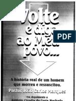 Volte e Diga a o Meu Povo (Pr Dr João Carlos Marques)