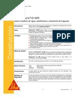 Aditivo Reductor Agua Plastificante Retardante Fraguado Plastocrete 161 Mr