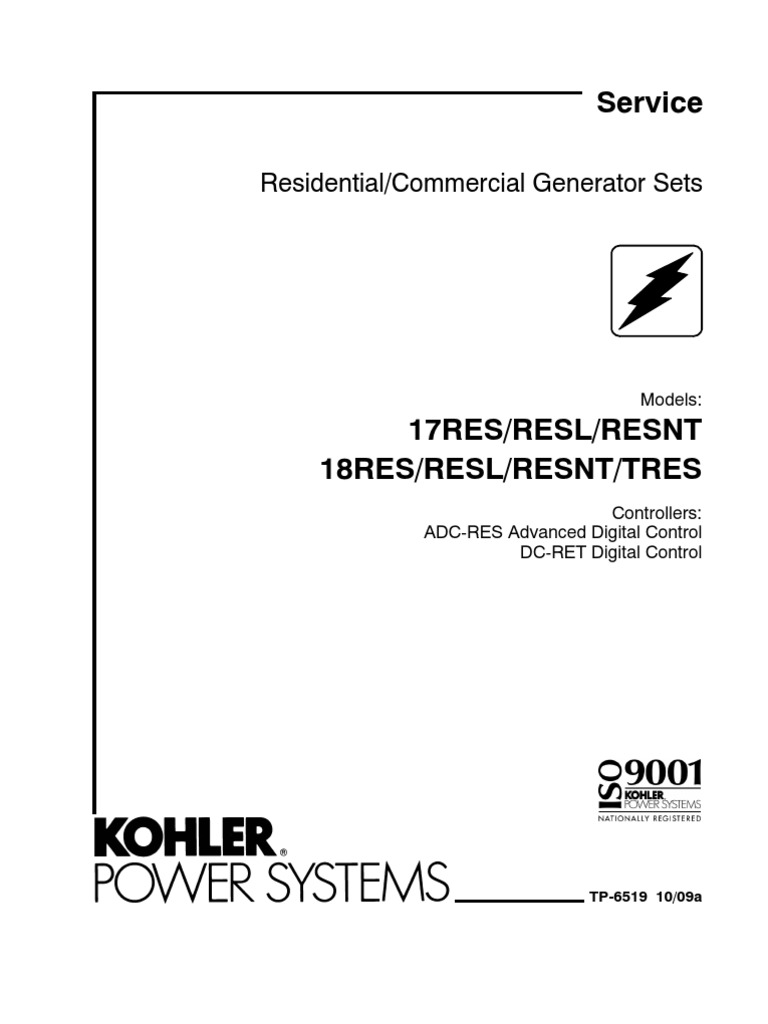 KOHLER 17 GENERATOR 17serv | Internal Combustion Engine