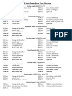 2013 south texas zone team itinerary w shirts