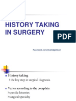 History Taking in Surgery