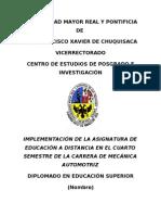 monografia de educación a distancia