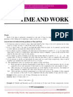 SSC CGL Numeric Aptitude (Time and Work)
