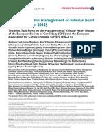 ESC Valvular Heart Dz Guidelines