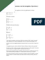 ACTIVIDADES Sistemas de Ecuaciones