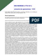 Mariano Moreno Plan de Operaciones 1810