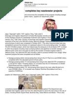 Dubai Municipality Completes Key Wastewater Projects