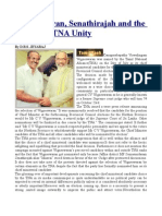 Wigneswaran, Senathirajah and the Facade of TNA Unity