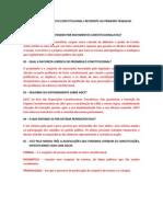 QUESTÕES DE DIREITO CONSTITUCIONAL I