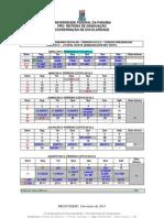 Calendário LN 2012.2