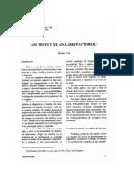 tests y análisis factorial