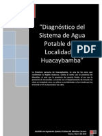 Diagnostico Del Sistema de Agua Potable Huacaybamba