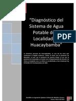Diagnostico Del Sistema de Agua Potable Huacaybamba