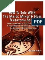 Pentatonic guitar guide