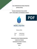 Proposal Permohonan Kerja Praktek (KP)diPertamina Geothermal Energy.